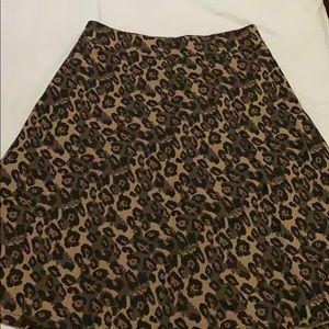 Mads Norgaard Skirts - Fresh Denim Women's Brown Leopard Skirt